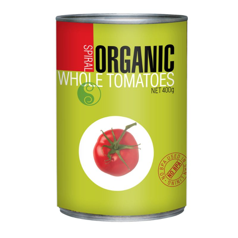 Spiral Foods Whole Tomatoes Organic 400g