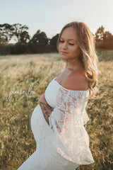 Camila - Boho Sleeve Lace Maternity Gown