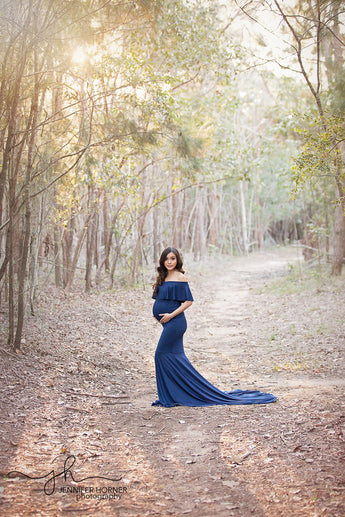 Alli - Off-the-Shoulder Maternity Gown