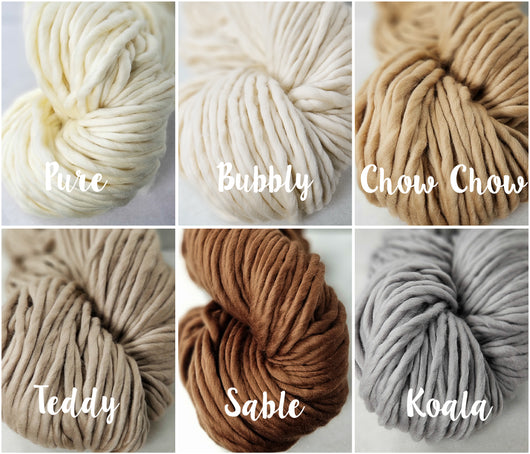 Galler Yarns 'Super B' - Super Bulky 100% Superfine Merino Yarn