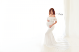 Rose - Lace Off-the-Shoulder Maternity Gown