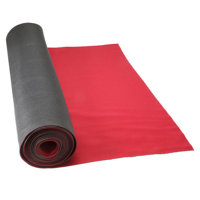 "27"" x 180' x 1.5mm Red Neoprene Floor Protector Roll - Bulldog Trading inc"