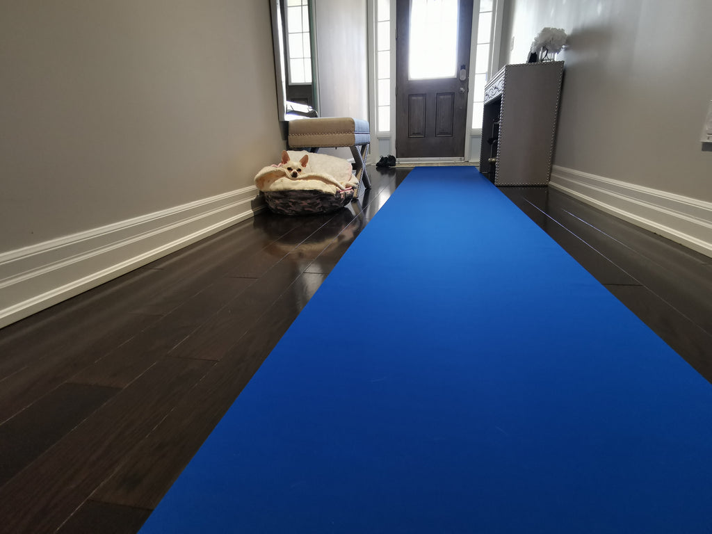 "27"" x 30' x 1.5mm Blue Neoprene Floor Protector Roll - Bulldog Trading inc"
