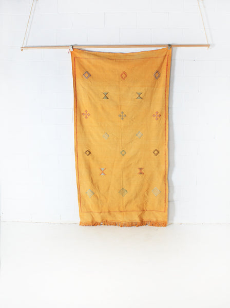 Mustard Cactus Silk Throw