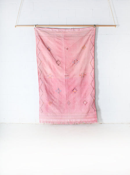 Cactus Silk Throw - Pink