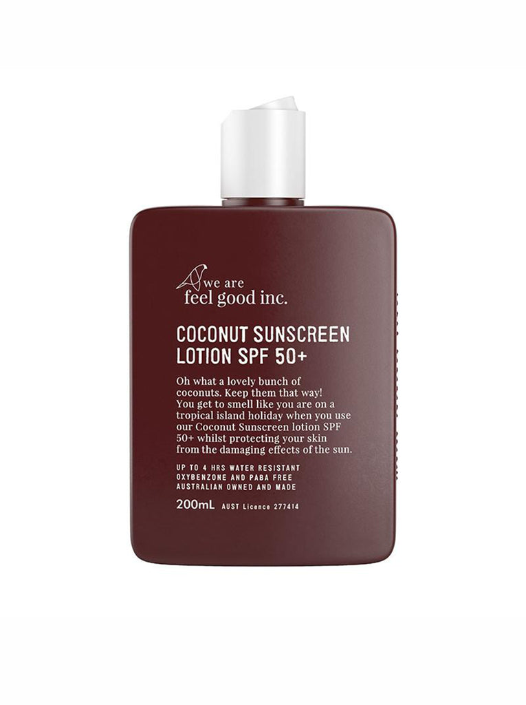Coconut Sunscreen Lotion Spf 50 We Are Feel Good Inc