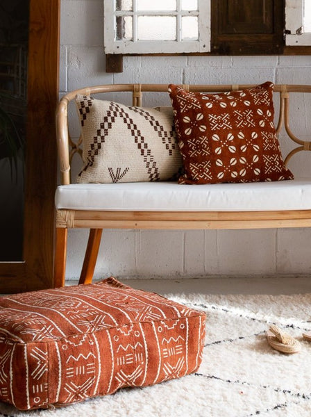 Moroccan Mud Cloth Floor Cushions