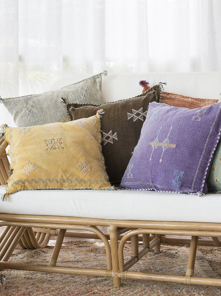 Cactus Silk Cushions Single