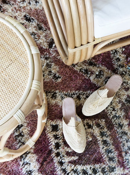 Moroccan Raffia Happy Slides