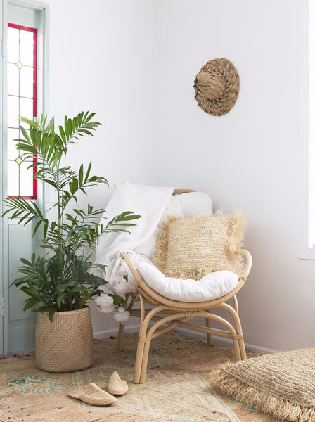 Raffia Cushion Cover - Square