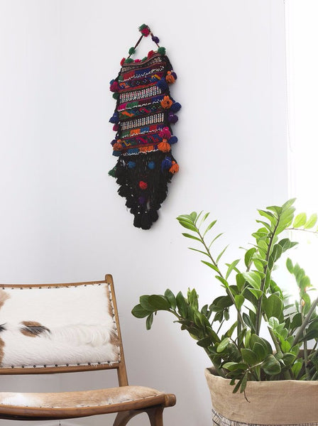 Afghan Salt Bag Wall Hanging