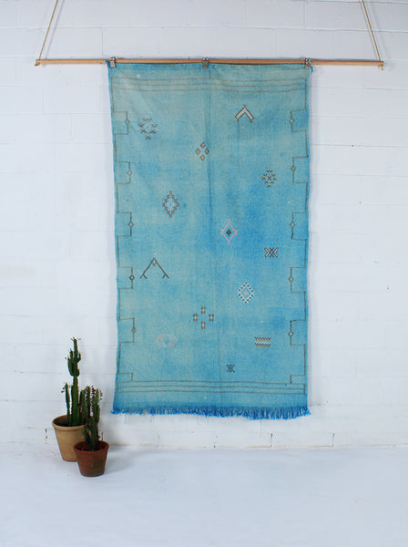 Blue Cactus Silk Throw