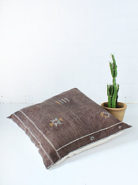 Cactus silk and cotton cushion 100 x 100cm