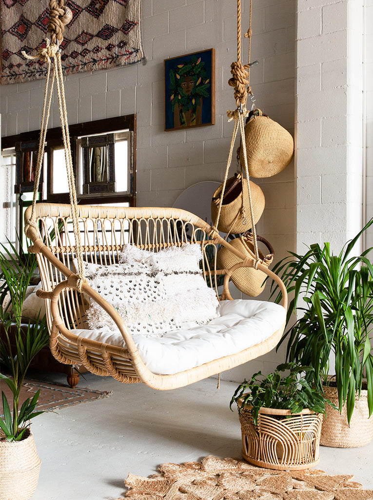 Tremendous Dreamer Double Rattan Hanging Chair Alphanode Cool Chair Designs And Ideas Alphanodeonline