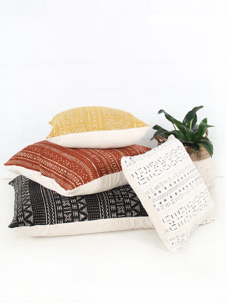 Mud Cloth + Cotton Cushion
