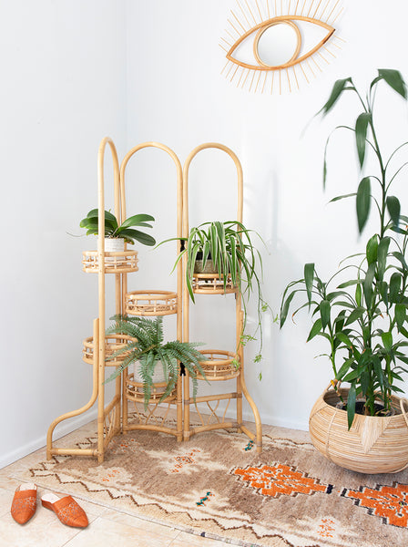 Penelope screen rattan planter