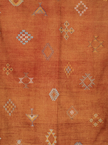 Rust Cactus Silk Throw