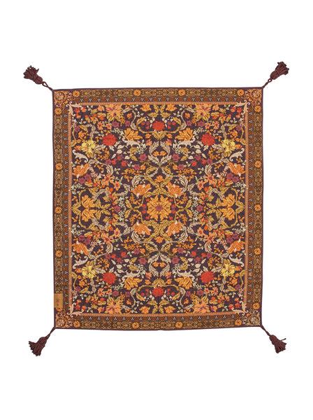 Wandering Folk Picnic Rug - Spice Forest