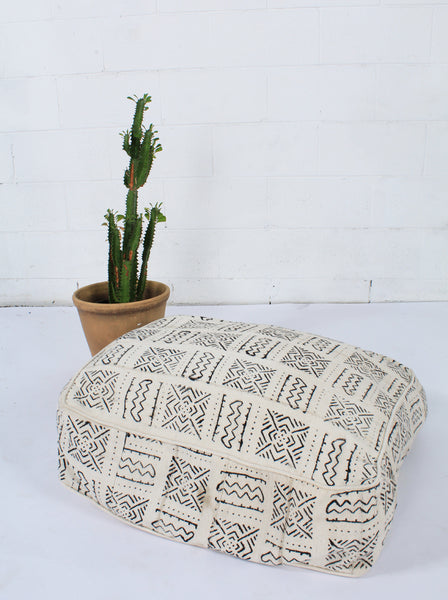 African Mud Cloth Floor Cushions