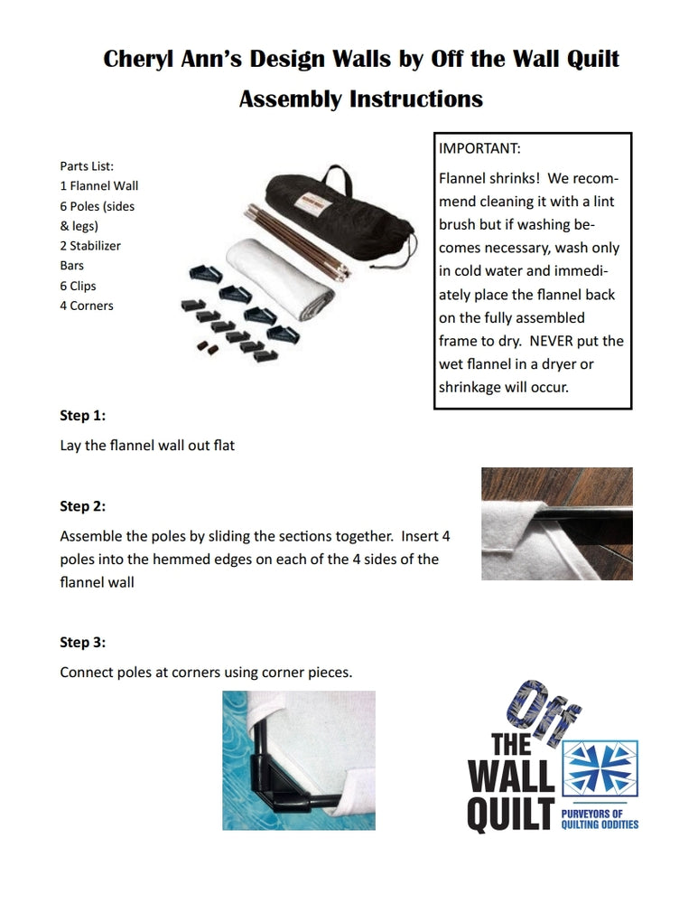 Design Wall Assembly Instructions