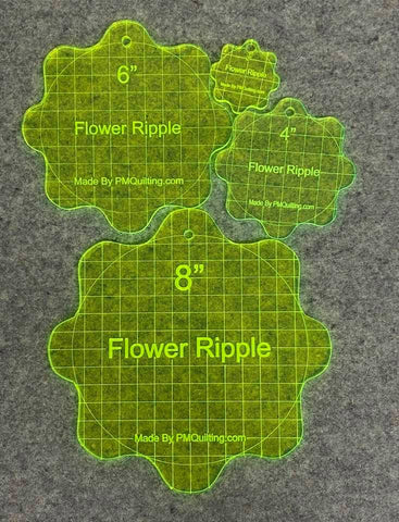 Flower Ripple 4 Piece Set for Quilting