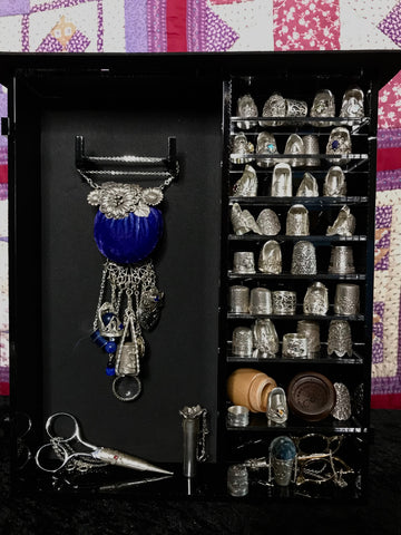 Display Case: Thimbles & Chatelaines