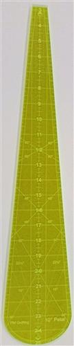 Glow Edge Acrylic 10 degree Petal Ruler 24 inches Long Made for the Christmas tree skirt Jan designed