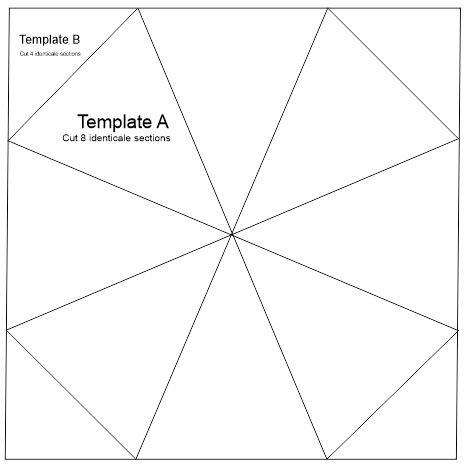 "Kaleidoscope Template Set 16"" Glow Edge Acrylic Templates"
