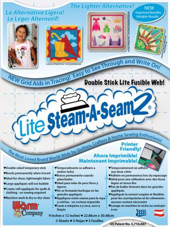 Lite Steam-A-Seam 5 Sheets