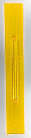 "3 1/2"" x 25"" Quilting Ruler with Handle"