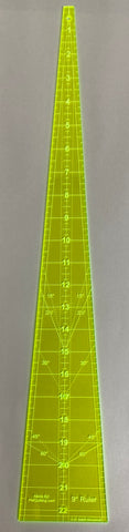 "Wedge Ruler 9 Degree 22 1/2"" Long"