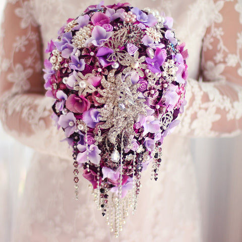 Bouquet, Pearl crystal  custom made #  0041
