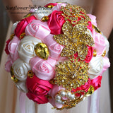Bouquets heavy gold crystal custom made # 0033