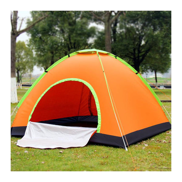 3-4 people Quick Opening 2-Door Camping Tent