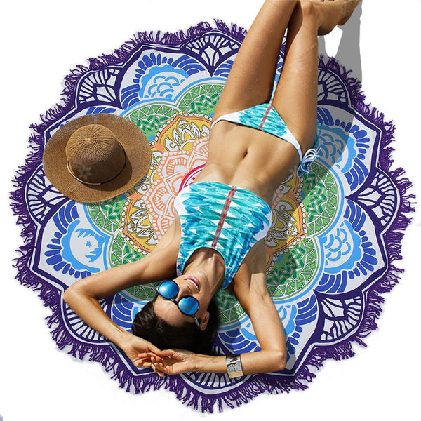 Summer Mandala Sunbath Beach Towel | Big Nation Gear