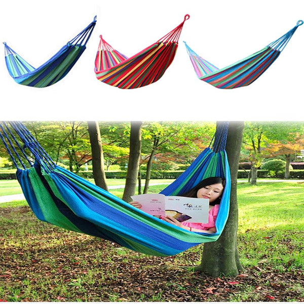 Outdoor Colorful Cotton Fabric Hammock