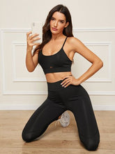 Load image into Gallery viewer, SH507 Peekaboo Cami Sports Bra With Leggings