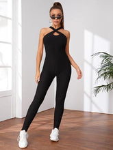 Load image into Gallery viewer, SH512 Criss Cross Backless Halter Sports Jumpsuit
