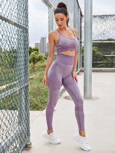 SH506 Criss Cross Backless Sports Set