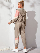 Load image into Gallery viewer, SH5013 Color Block Zip Up Sports Jacket & Sports Pants