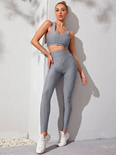 Load image into Gallery viewer, SH519 Criss Cross Back Sports Bra & Leggings With Phone Pocket
