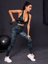 Load image into Gallery viewer, SH508 Geo Print Crossover Sports Bra & Leggings