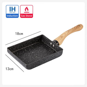 Non-stick square frying pan