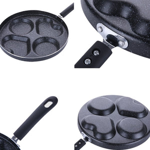 4 holes Heart-Shaped Non-Stick Frying Pan