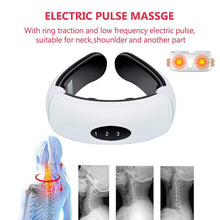 Load image into Gallery viewer, Electric pulse back and neck massager with infra red heating