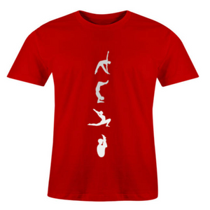 Men O-Neck Yoga Poses T-Shirt