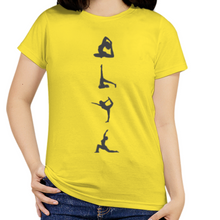 Load image into Gallery viewer, Women O-Neck Yoga Poses T-Shirt