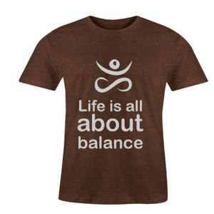 Men O-Neck Balance T-Shirt