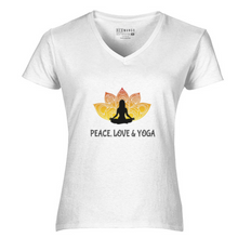 Load image into Gallery viewer, Women V-Neck Peace Love T-Shirt