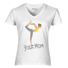 Load image into Gallery viewer, Women V-Neck Yoga Mom T-Shirt
